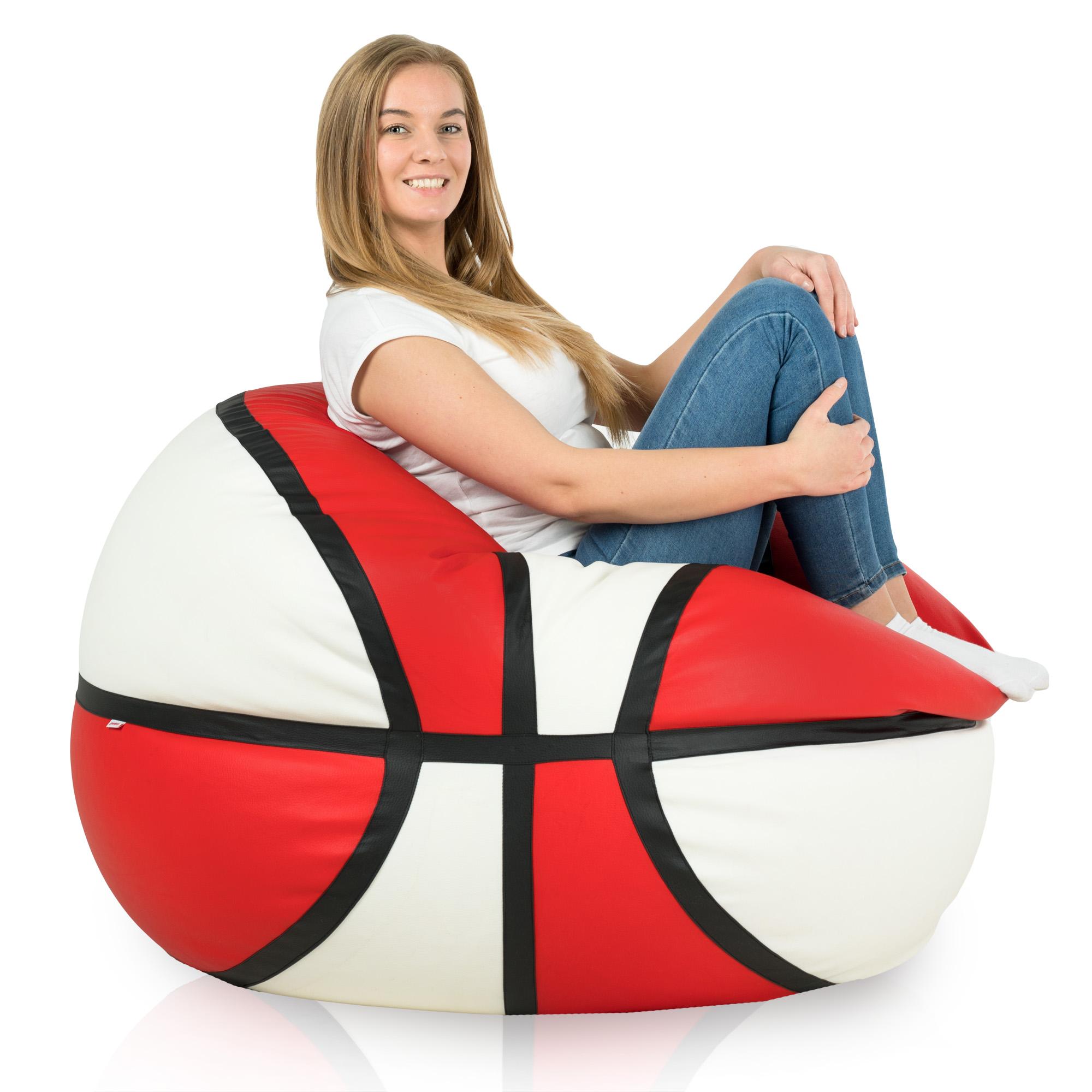 sitzsack basketball riesiger sitzsack zum sitzen oder zum. Black Bedroom Furniture Sets. Home Design Ideas