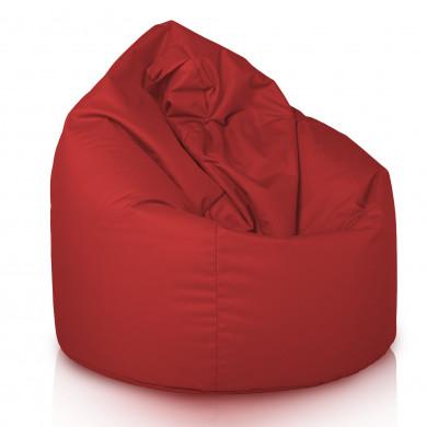 Sitzsack Sessel Mit Lehne Rot Plüsch