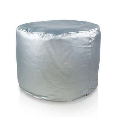 Sitzpouf Cilindro Silber