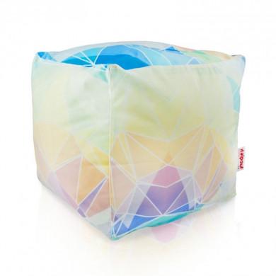 Sitzpouf Cubo Abstrakt Pastel