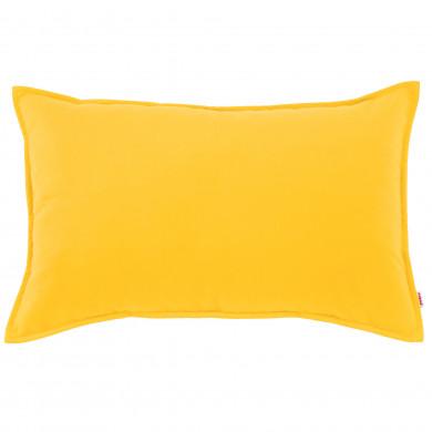 Dekokissen Gelb Plüsch Kinderzimmer
