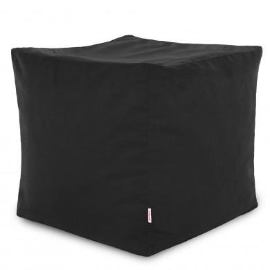 Schwarz Sitzhocker Plüsch Cubo