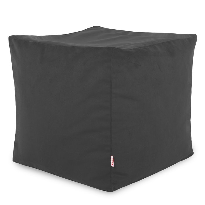 Grau Sitzhocker Plüsch Cubo