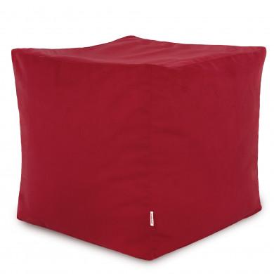 Rot Sitzhocker Plüsch Cubo Wohnzimmer