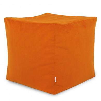Orange Sitzhocker Plüsch Cubo Kinder