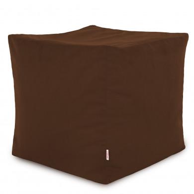 Dunkelbraun Sitzhocker Plüsch Cubo