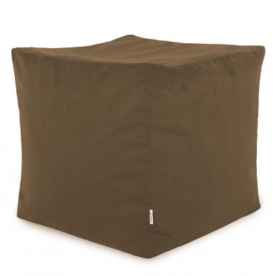 Graubraun Sitzhocker Plüsch Cubo Pouf