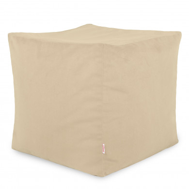Perle Sitzhocker Plüsch Cubo