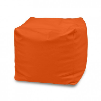 Orange Sitzhocker Mikrofaser Cubo