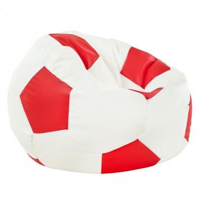 Rot Sitzsack Fußball Wohnzimmer Kunstleder