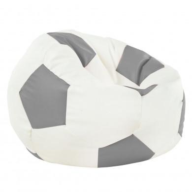 Stahl Sitzsack Fußball Relax Kunstleder