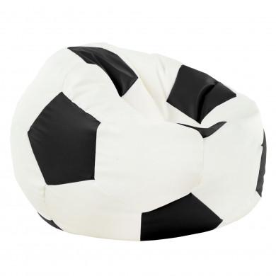 Schwarz Sitzsack Fußball Kunstleder