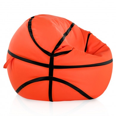 Orange Sitzsack Basketball Kunstleder