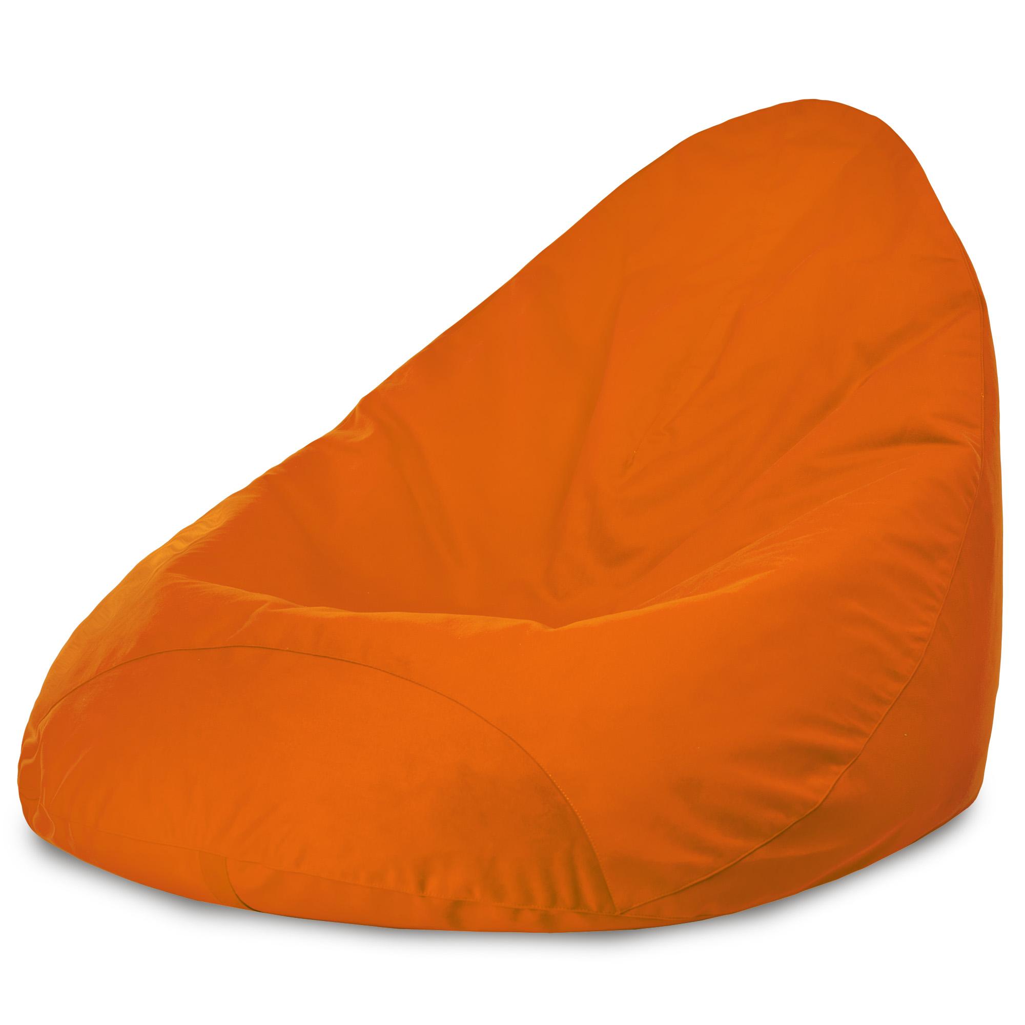 Orange Sitzsack Mit Lehne Drop Plüsch ITALPOUF