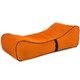 Lounge Relax Sessel Orange Plüsch Junge