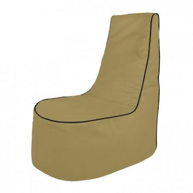 Beige Sitzsack Sessel Draußen Garten