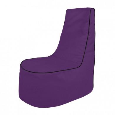Violett Sitzsack Sessel Draußen Terrasse
