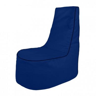 Dunkelblau Sitzsack Sessel Draußen