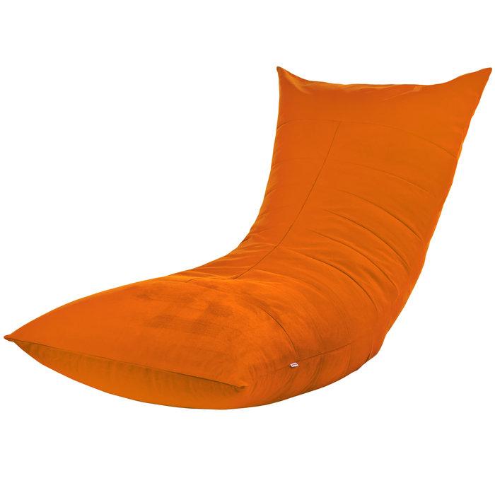 Sitzsack Sessel Mit Lehne Orange Plüsch ITALPOUF