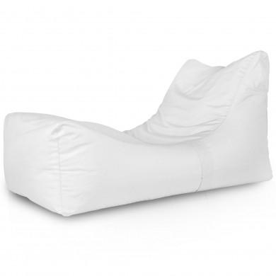 Lounge Sessel Outdoor Weiß Garten