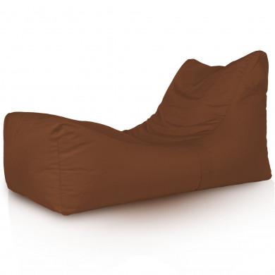 Lounge Sessel Outdoor Dunkelbraun