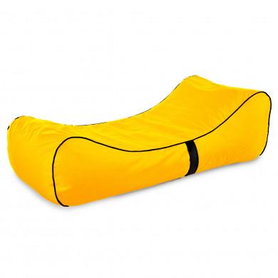 Orange Sitzkissen XXL Kunstleder Kinderzimmer