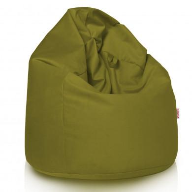 Grüner Apfel Sitzsack XL Plüsch