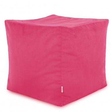Rosa Sitzhocker Plüsch Cubo Mädchen